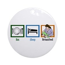 Eat Sleep Breastfeed Ornament (Round)