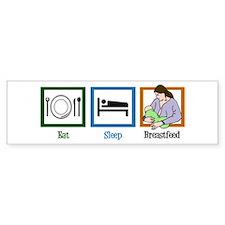 Eat Sleep Breastfeed Bumper Sticker