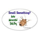Stink Bug Sticker (Oval 10 pk)