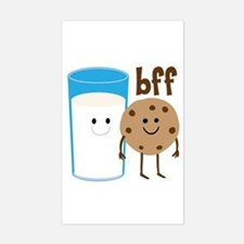 Milk & Cookies BFF Sticker (Rectangle)