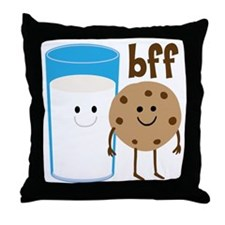 Milk & Cookies BFF Throw Pillow