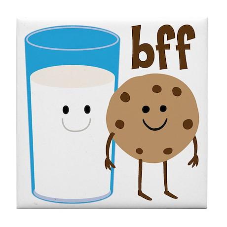 Milk & Cookies BFF Tile Coaster