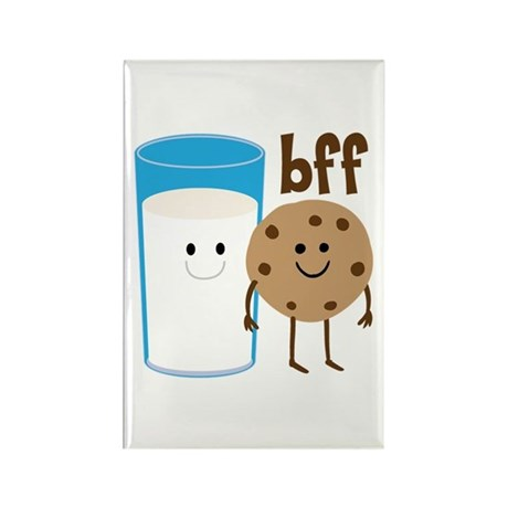Milk & Cookies BFF Rectangle Magnet (10 pack)