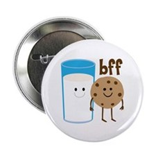 "Milk & Cookies BFF 2.25"" Button"