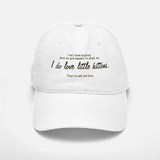 """""""I love kittens"""" Baseball Baseball Cap"""