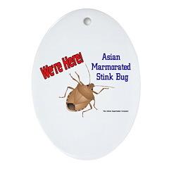 Stink Bug Ornament (Oval)
