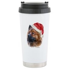 Christmas Eurasier Travel Mug