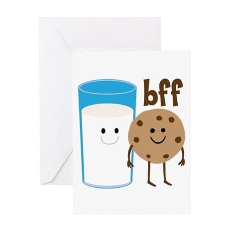 Milk & Cookies BFF Greeting Card
