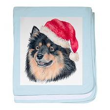 Christmas Finnish Lapphund Infant Blanket