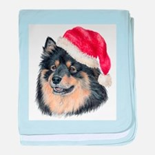 Christmas Finnish Lapphund Infant Blanket