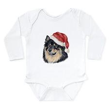 Christmas Finnish Lapphund Long Sleeve Infant Body