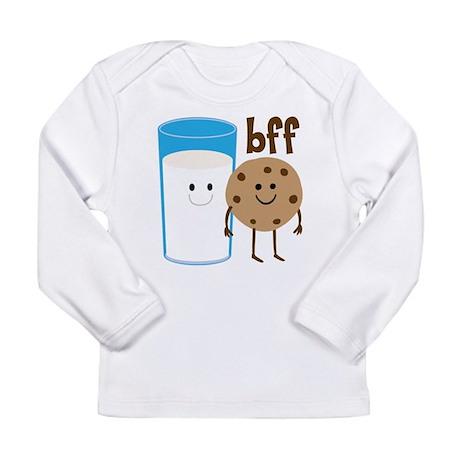 Milk & Cookies BFF Long Sleeve Infant T-Shirt