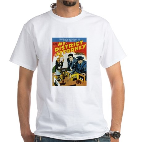 $19.99 Mr District Attorney White T-Shirt