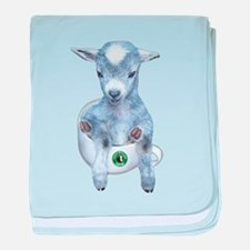 TeaCup Goat Infant Blanket