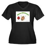 Stink Bug Women's Plus Size V-Neck Dark T-Shirt