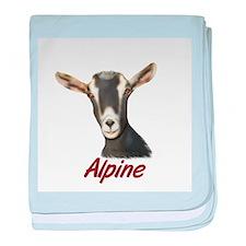 Alpine Goat Portrait Annabell Infant Blanket