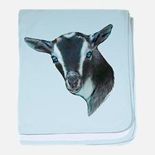 Nigerian Dwarf Goat Portrait Infant Blanket