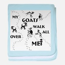 Goats Walk All Over Me Infant Blanket
