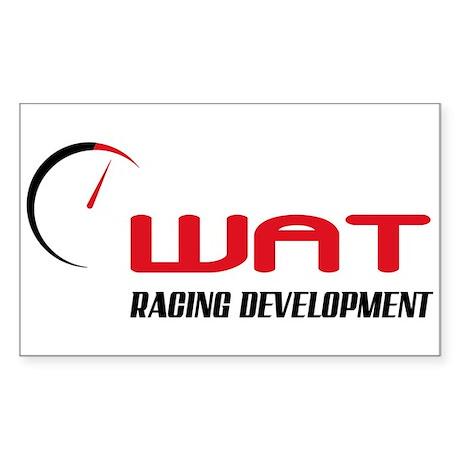 WAT Racing - Sticker (Rectangle)