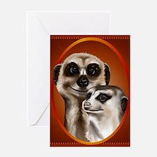 Two Cozy Meerkats Greeting Card