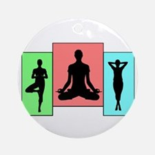 Yoga Pose Pastels Ornament (Round)