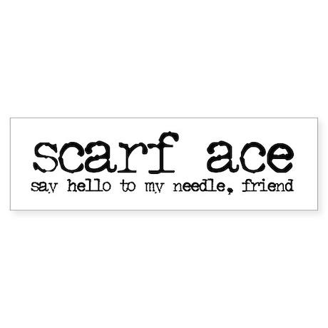 scarf ace Bumper Sticker