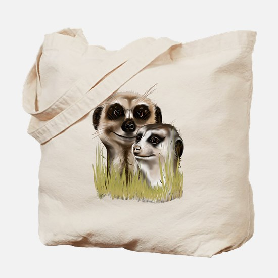 Two Cozy Meerkats Tote Bag