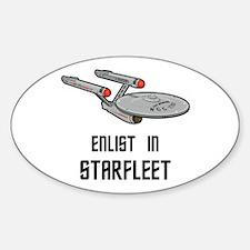 Enlist in Starfleet Decal