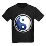 Taoism Ying Yang Kids Dark T-Shirt