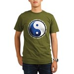 Taoism Ying Yang Organic Men's T-Shirt (dark)