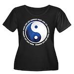 Taoism Ying Yang Women's Plus Size Scoop Neck Dark