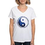 Taoism Ying Yang Women's V-Neck T-Shirt