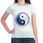 Taoism Ying Yang Jr. Ringer T-Shirt