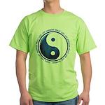 Taoism Ying Yang Green T-Shirt