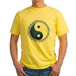 Taoism Ying Yang Yellow T-Shirt