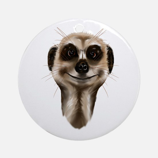 Meerkat Faces Ornament (Round)
