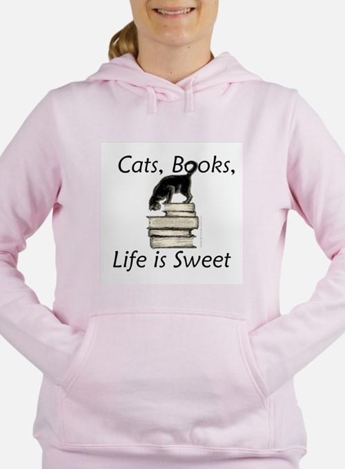 Cat on Book Sweatshirt