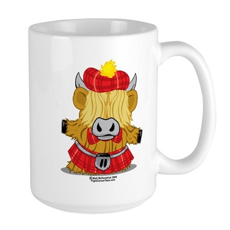 Highland Cow Red Kilt Large Mug