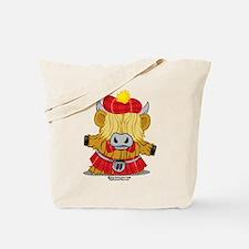 Highland Cow Red Kilt Tote Bag