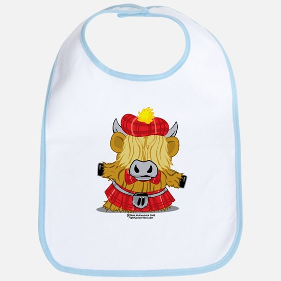 Highland Cow Red Kilt Bib