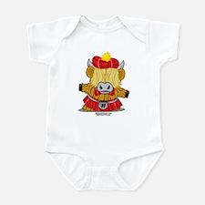 Highland Cow Red Kilt Infant Bodysuit