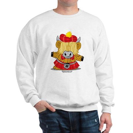 Highland Cow Red Kilt Sweatshirt