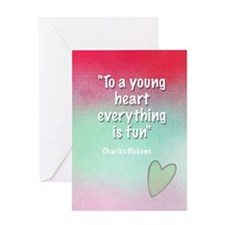 Young Heart Birthday Card