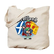 Scotland Flag & Piper Tote Bag