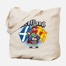 Scotland Flag & Piper Tote Bag