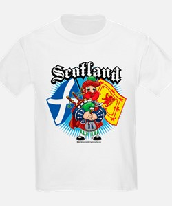 Scotland Flag & Piper T-Shirt