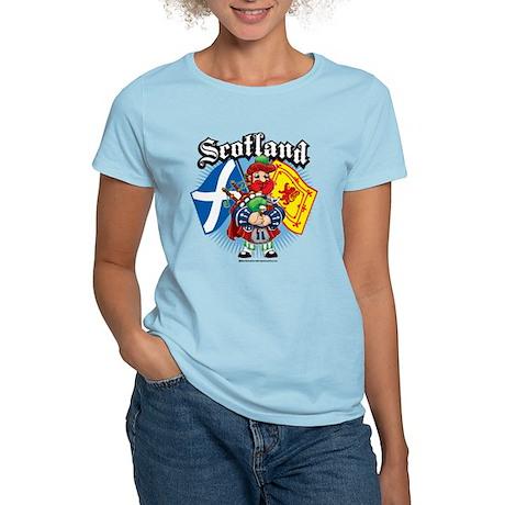 Scotland Flag & Piper Women's Light T-Shirt
