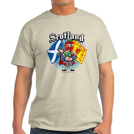 Scotland Flag & Piper Light T-Shirt