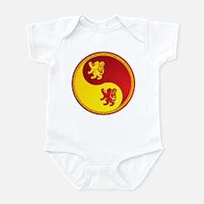 Scotland Ying Yang Red Infant Bodysuit