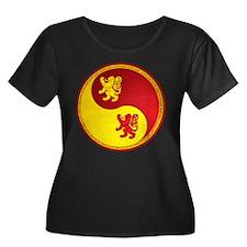Scotland Ying Yang Red T